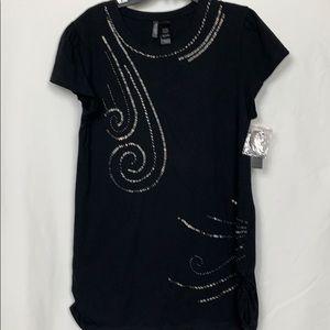 NWT Bisou Bisou black top size XL